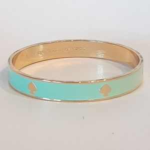Kate Spade Logo Aqua Bangle Bracelet